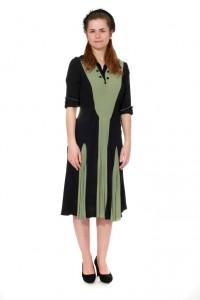 zweifarbiges Kleid aus den 40er Jahren Gr. 38