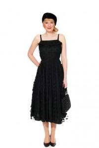 Kleid mit Tupfentüll Gr. 36
