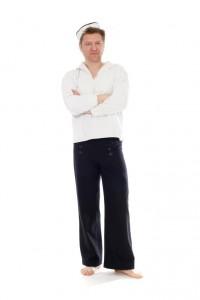 Matrose Gr. 50 blaue Wollhose, weißes Marinehemd