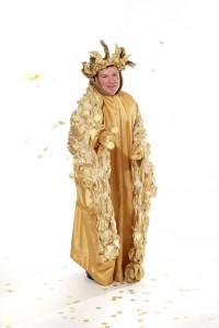 goldenes Gewand mit Bulb-Stola und Srahlenkrone
