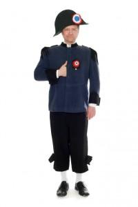 Napoleon Gr. 50/52, Uniformjacke aus dunkelblauer Wolle, schwarze Kniebundhose