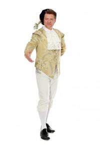 Renaissance Gr. 52, goldene Jacke mit Schößchen und weißer Kniebundhose