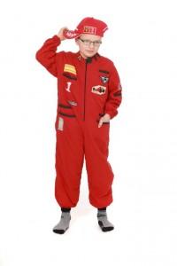 roter Rennfahrer Overall für Kinder