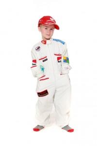 weißer Rennfahrer Overall für Kinder