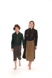 Lederhose und Lodenjacke in Gr. 152 Mädchentracht mit Schürze in Gr. 164