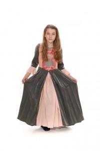 grau rosa Kleid Gr. 152