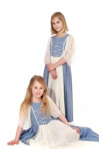 hellblaue Schnürkleider für Mägde, Schneewittchen oder Rapunzel