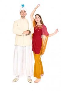 Maharadscha und Tempeltänzerin