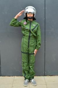 grüner Pilotenoverall Gr. 176