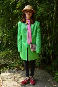 grüne Jacke Gr. 170, Tropenhelm