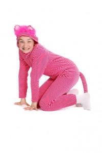 rosa-pink gestreifter Nickioverall Gr. 152