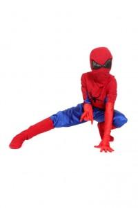 Spidermanoverall, Maske, Handschuhe und Stulpen