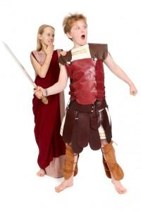 römischer Soldat mit Römerin