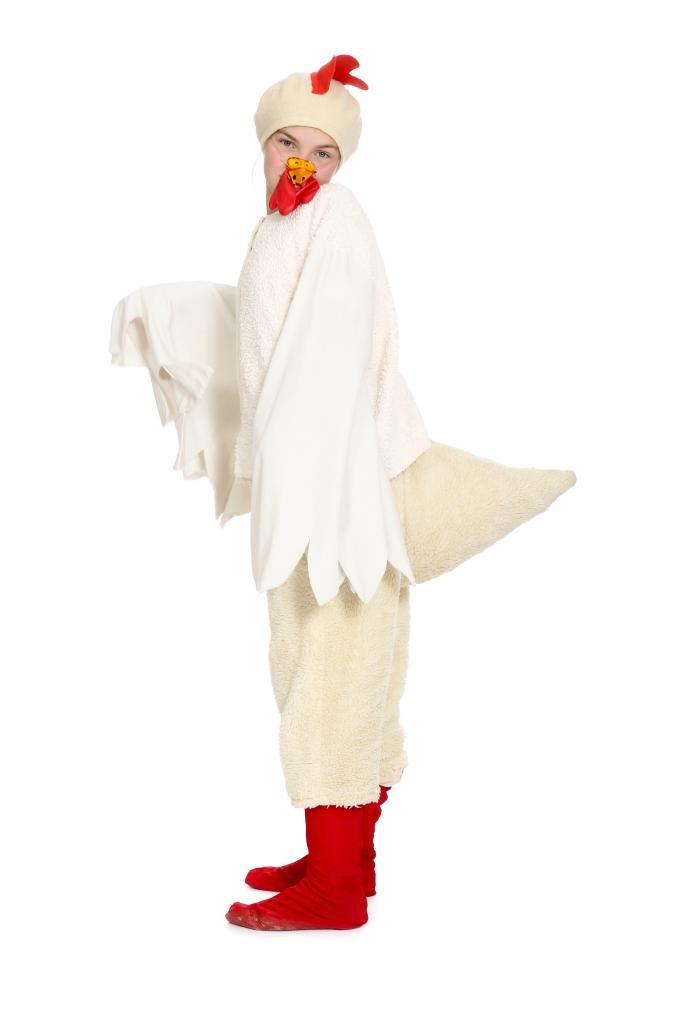 Bürzel, Jacke mit Flügelärmeln und Kamm