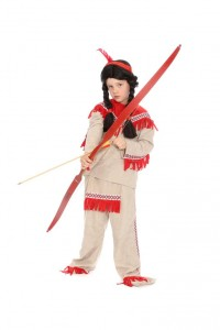 Indianeranzug mit roten Fransen