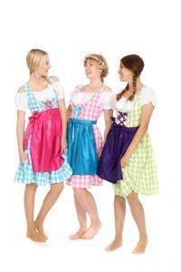 Oktoberfest Dirndl in verschiedenen Farben und Größen