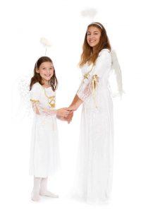 Pannéesamtkleider mit Spitze und goldenen Bändern in verschiedenen Größen