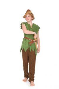 grünes Zipfelhemd mit Hose in Lederoptik