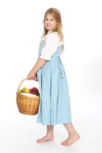 kariertes Kleid mit Bluse Gr. 146