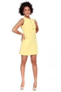 gelbes Minikleid Gr. 36