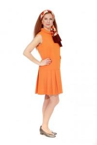 orangefarbenes Minikleid Gr.38