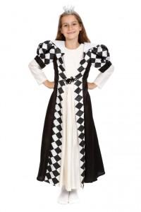 weißes Seidenkleid mit schwarzem Chasuble Gr. 134