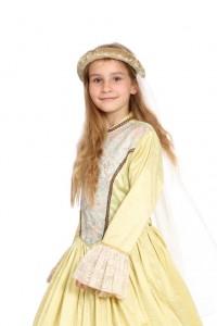 gelbe Prinzessinkleid Gr. 134