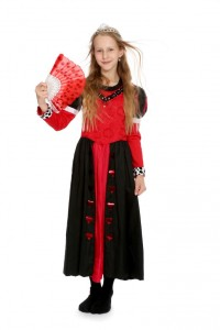 schwarz-rotes Seidenkleid Gr. 140